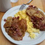 Corned Beef Hash and Eggs. Nice morning fill.