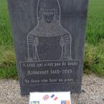 memorial laid in 2015 to celebrate 600th anniversary of the battle.