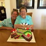 Mom's birthday cake by Sh-booms! She's a Quilter so we designed the cake with quilting tools.