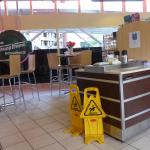 Seating area at Krispy Kreme Doughnuts