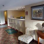 Check-in desk at Quality Inn & Suites in Gettysburg
