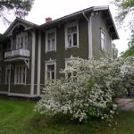 The wooden villa was built in 1873