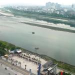 The river at Ankang, from the 15th floor of the Minjiang Hotel