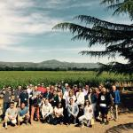 The whole group at Andretti Winery