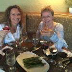 My Daughter and I enjoying a wine flight and appetizer