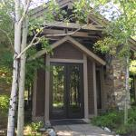 Out entrance Glade Spring Spa at Suncadia
