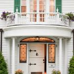 Elegant entrance to our Lenox bed and breakfast