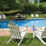 Lounge poolside at our Berkshires b&b