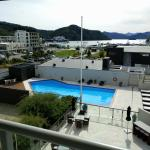 from room overlooking the pool and on to the harbour