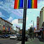 New rainbow banners in neighborhood