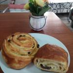Enjoy our croissant, raisins and chocolate breads