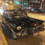 Cadillac outside the Green Door Tavern