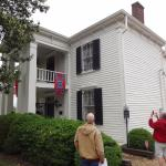 Front and Side view of Lotz House with Confederate Flag