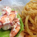 Lobster Roll with Fries & Onion Rings