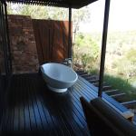 never get tired of soaking in the outdoor bath and taking in the spectacular scenery.