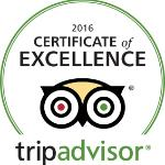 We are honored to receive a certificate of excellence for superior service!