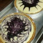 Chef Aaron's homemade blueberry swirl cheesecake!