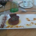 Palet chocolat coulis de poire