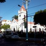 Vista della chiesa cattolica di S. Rafael a Boca Chica