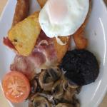 A classic greasy fry up!