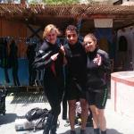 Me, my friend and our great diving-instructor Olesh