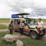 Grouppicture at the entrance of Serengeti NP