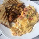 Spanish omelette with chorizos and wedges