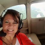 Flight seeing tour over lake