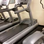 Fitness center not cleaned! Old and needs updating.