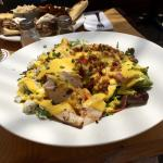 Cobb Salad. All the right ingredients. Would have preferred dressing on the side. Very tender ch