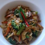 The Pad Kee Maou Lunch Special for $7.95.( Drunken Noodles Dish)