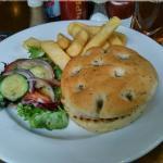 Salmon Burger with Cibata bread