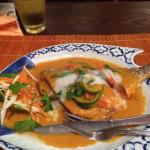 Crispy fish in red curry... To die for!