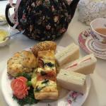 Tea sandwiches and quiche