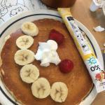 Make a funny face pancake