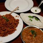 Chicken Biryani (Left) Chicken Tikka Masala (right)