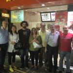 Reporting from Guangzou - May 2016: with friends in front of chicken express