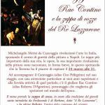 Cena spettacolo su Caravaggio e la cucina del seicento