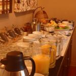 The breakfast spread was healthy and hearty. Very satisfying.