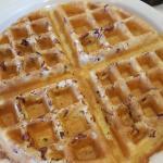 Delicious pecan waffles