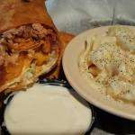 Buffalo Chicken Wrap & mac n chez