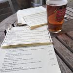 A great pint and a varied menu