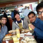 Photo with friends at the Badshah Restaurant