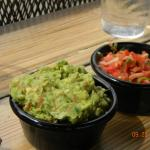 The salsa and guacamole were delicious!