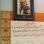 specials menu and Brett Favre