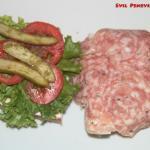 Tomato and salami sandwich