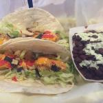 First time there and it was great.  The shrimp tacos with black beans and their special sauce wa