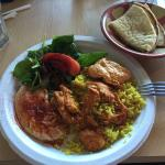 Garlic chicken combo plate