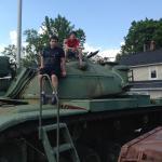 My boys on a tank