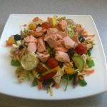 Just one of the scrummy yummy salads at 'The Bay '